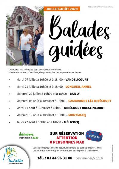Balades guidees ete 2020