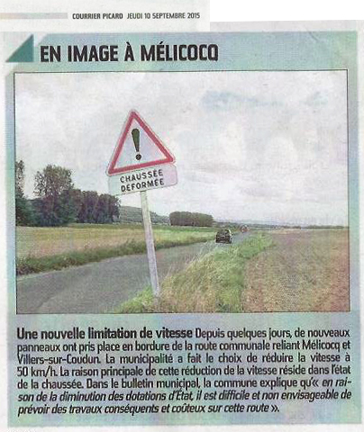 Limitation vitesse route rimberlieu