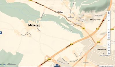 Plan acces melicocq